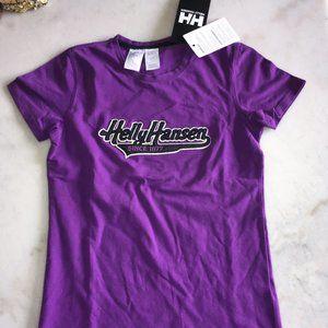 New! Helly Hansen short sleeve purple logo t-shirt